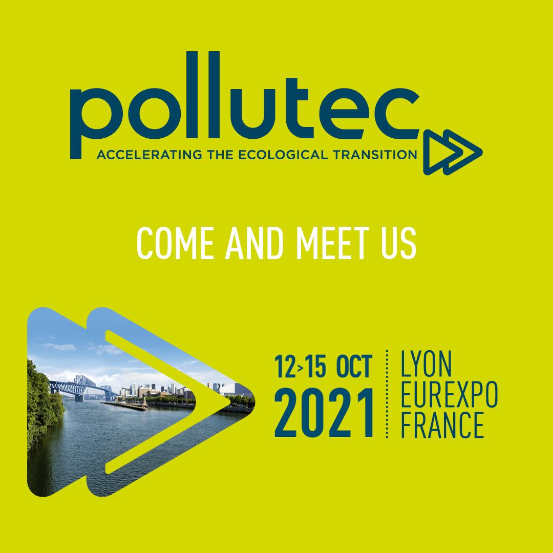 Saremo presenti al POLLUTEC dal 12 al 15 ottobre 2021 presso Lione Eurexpo - Francia.