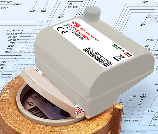 Modulo radio protocollo 868 wireless Mbus modello G2-IPS-C868WMB.
