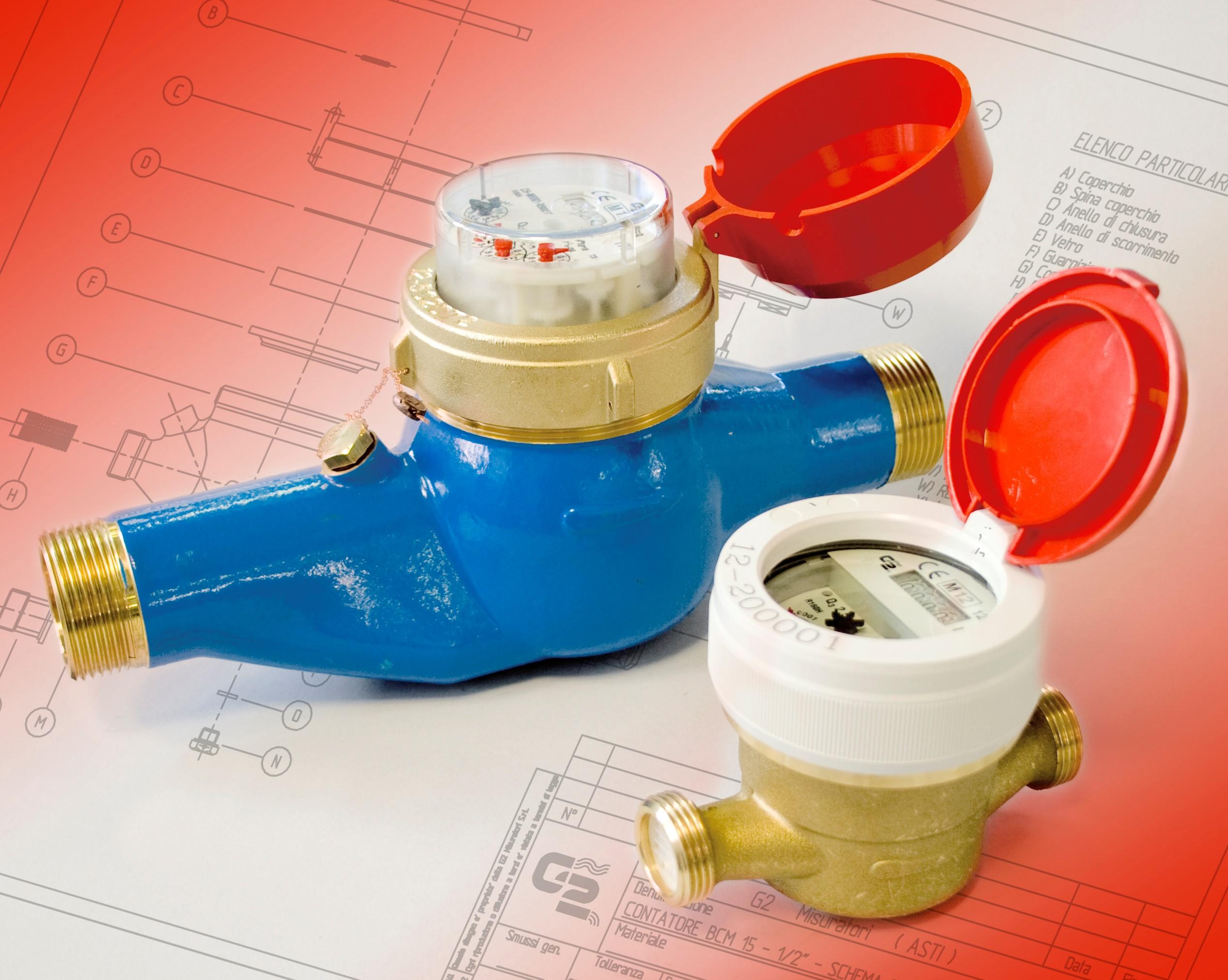 BCU / PCU /ACU - Contatori acqua a getto unico acqua calda UNY MID.