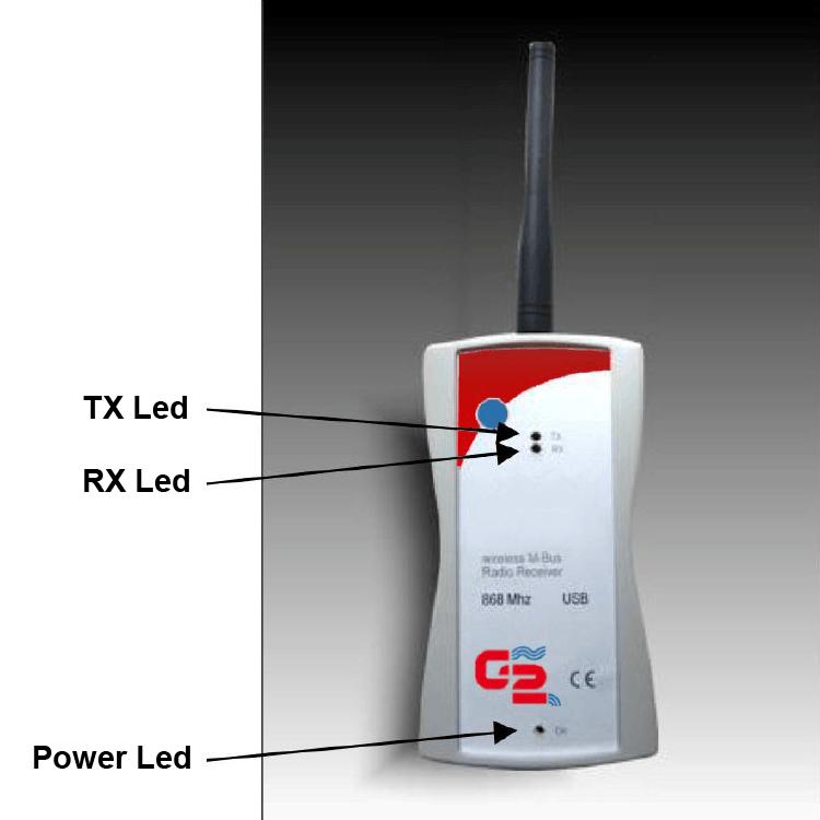 Portable receiver wireless M-BUS RPWMB.