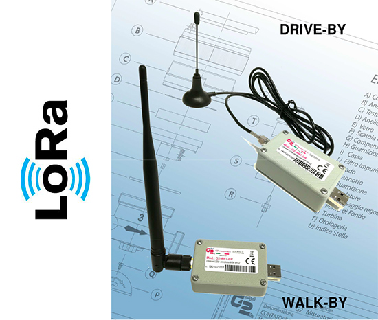 Remote reading system for water meters with walk-by/drive-by with LoRa network.