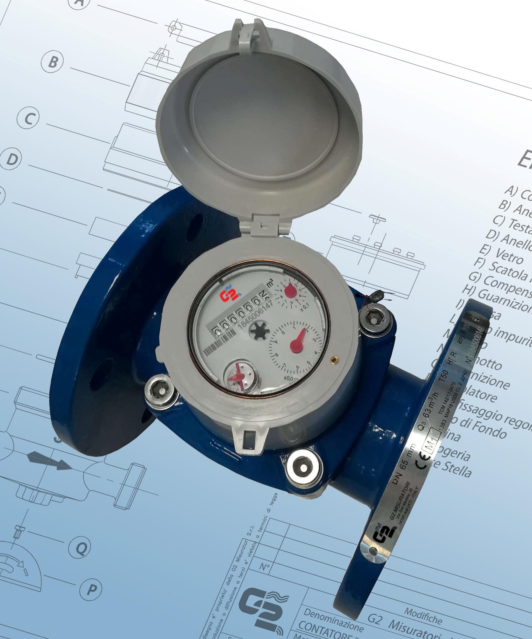 Helical vane water meters WOLTMANN
